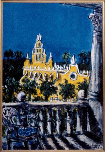 黄色い教会(メリダ;メキシコ)